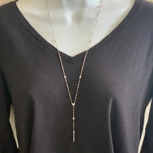 Henri Bandel silver and cz necklaces
